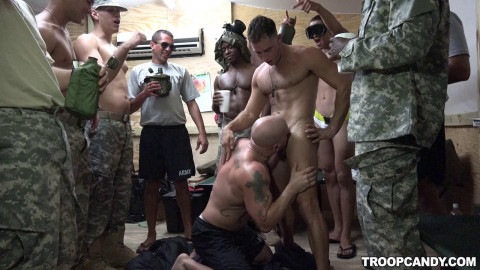 Muscle Soldiers Ready To Creampie Party