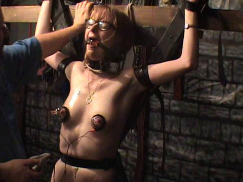 Extreme - Bound Slavegirl Gets Painfull Electric Pumping Nipples