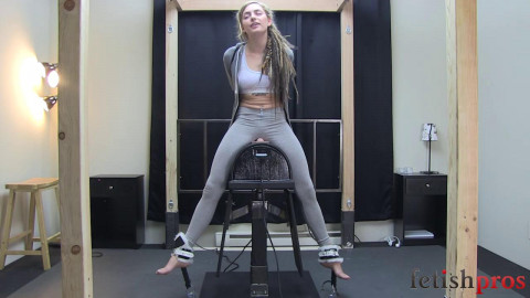 Missy Testing out the Sybian Stand