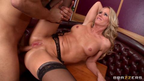 Seductive Blonde Milf - Waitress At Work