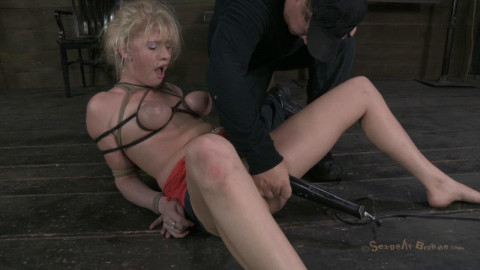 20yr old Farmers girl gets her huge tits bound