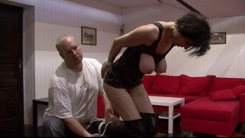 Toaxxx - Breast Suspension Challenge for Slave Eva