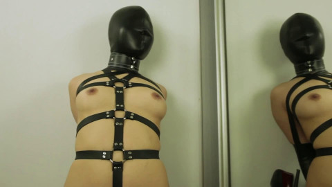 Taut restraint bondage, domination and wrist and ankle bondage for very marvelous hotty Full HD 1080p