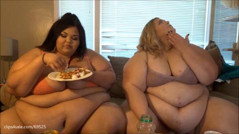 Ssbbw Brianna and Jae Eating Breakfast Part 2