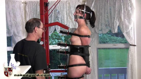 Tight tying, spanking and torment for stripped dark brown Full HD 1080p