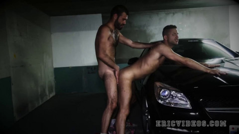 Dylan Cox pounds Jimmy in a parking lot