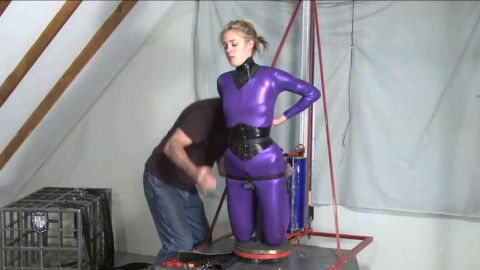 Tight bondage, mummification and torture for hot model
