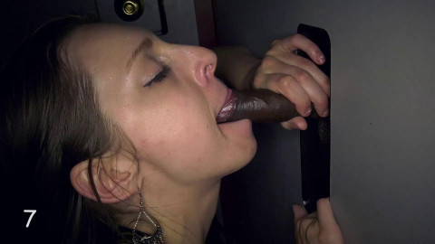Glory Hole Swallow Krista 1st Visit FHD