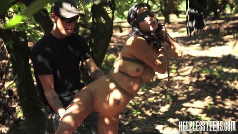 Jade Jantzen Accepts Slave Training Session Outdoor Rope Bondage Rough Sex (2014)