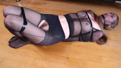 Super bondage, hogtie and torture for beautiful two bitches Full HD