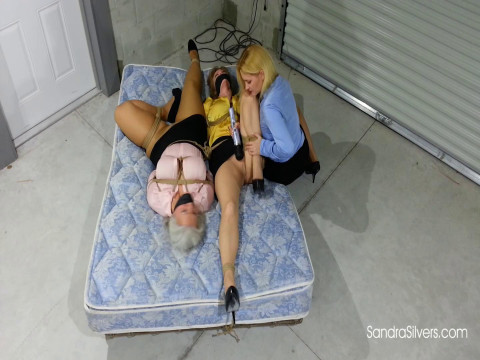 Blond Ladyboss Delivers Bondage Orgasms to Buxom MOTHER ID LIKE TO FUCK Secretaries in the Warehouse!