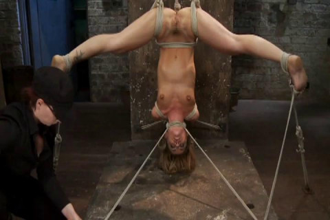 Hard S M Lesbian Couples Blonde Rope Slave Vol. 01