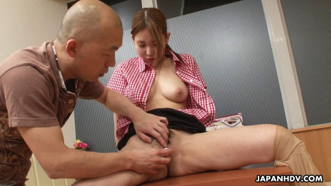 JapanHDV - Waitress Mio Ozora is convinced to make a porn episode during the time that at work