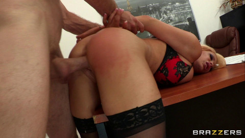 Punishing His Slutty Blonde Whore Of A Boss