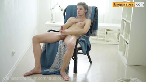 Dirty Blond Dream Teen Twink Boy Dildo Play