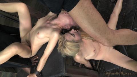 2 blond pixies Odette Delacroix and Emma Haize