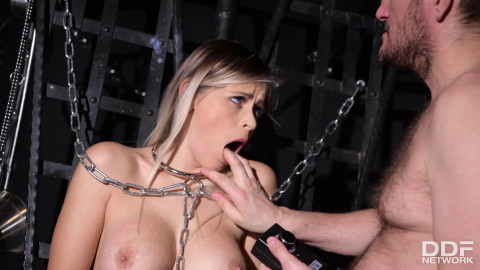 Tight bondage, spanking and torture for very horny slut