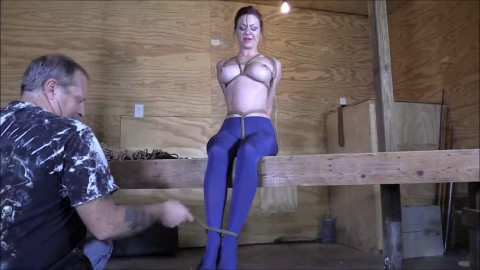Bondage, domination, hog tie and soreness for very lascivious gal Full HD 1080p