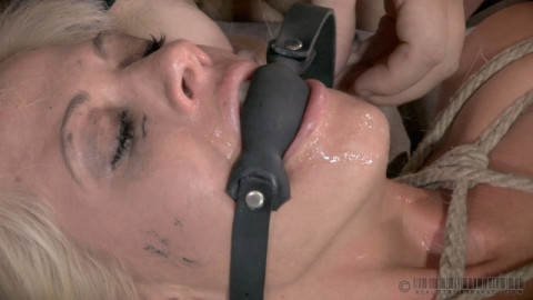 RTB - Blonde strictly restrained and Anally drilled by Bbc
