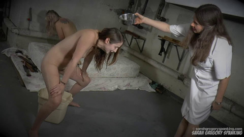 Bondage, domination and spanking for 2 sexy gals part 1 HD 1080p