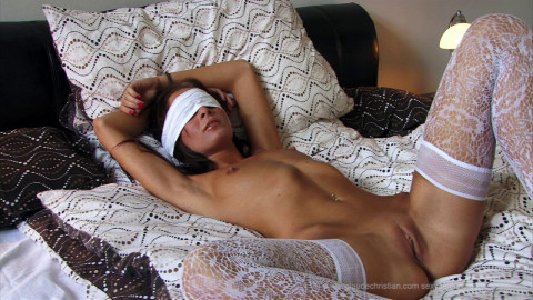 Coralie Bound In Sofa and Bound Acquires Licked - HD 720p