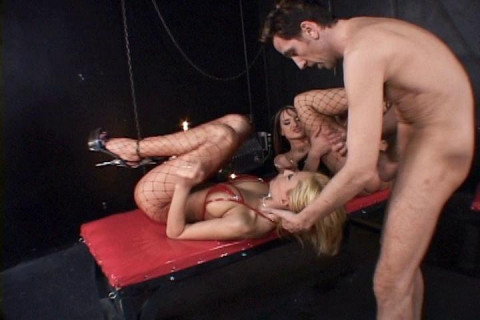Hot Domination Scene With Threesome
