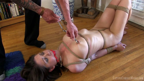 Super restraint bondage, domination and pain for very hot doxy HD 1080p