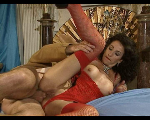 Depraved bitch in red underwear longs fisting