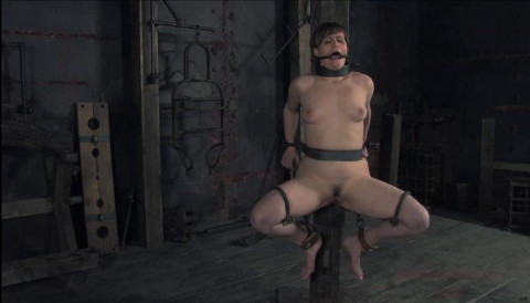 Clamps on her lovely nipples pull them upward. Shes pussywhipped