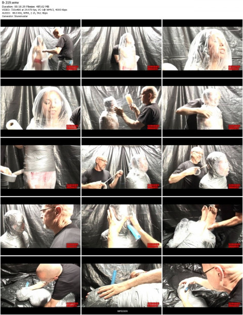 MT Mummification Fetish Fun With Plastic and Duct Tape (2011)