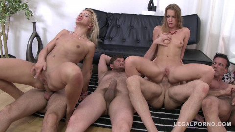 Cherry Kiss and Alexis Crystal extreme anal orgy with Dp and Dpp double pussy (2016)