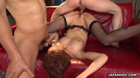 Runa sesaki acquires caught and used up by her team boyfrends