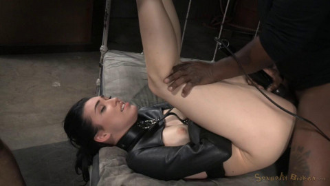 Fresh faced bondage Aria Alexander straightjacketed dicked down multiple orgasms! (2015)