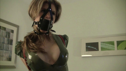 HD Bdsm Sex Videos Leather Strap Hogtie and Latex