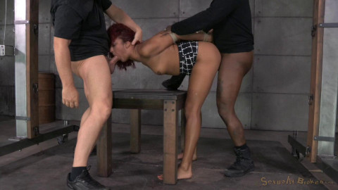 Fit redhead Daisy Ducati services 2 big cocks