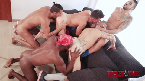 Private Interracial Gangbang