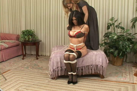 Lorelei Ties Ashley Renee into a High-Heel Hogtie