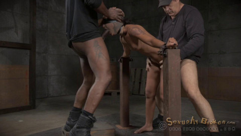 Tight bodied Skin Diamond restrained and roughly fucked drooling deepthroat! (2015)