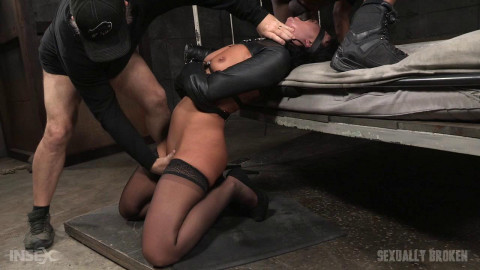 London River - Blindfolded and bound cockslut ragdoll fucked by 3 cocks (2016)