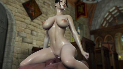 Beauty Cartton Babe Takes Gigant Dick
