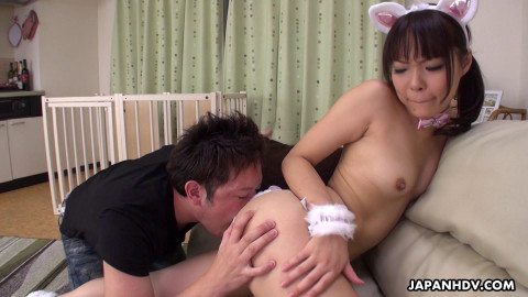 Haruna Ikoma is given a toy to play with that is pushed in her love tunnel