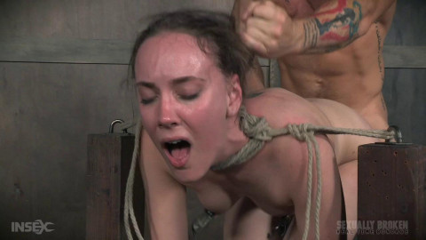 Cute girl next door, suffers brutal deepthroating and rough fucking, extreme bondage and sex!