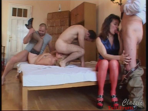 Perverse matures home orgy
