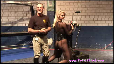 Super bondage, torture and blowjob for a very beautiful blonde
