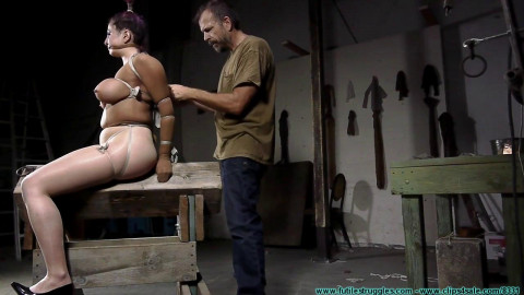Gia Rides the Horse While Bound in Nylons - Part 2