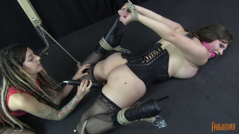 Iona Bound Spread And Vibed To Orgasm - Full HD 1080p
