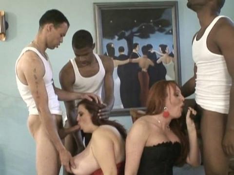 A Shemale Gang Bang The Interracial Version