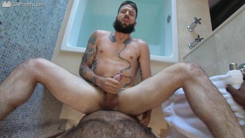 Bearded Fuck At Bathhouse - Buck Richards & Hunter Triad 1080p