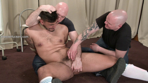 Liam - Football fetish, bound, teats clamped, bare