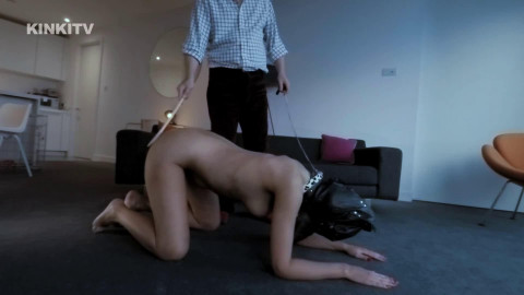 Super tying, domination and spanking for sexually excited hawt dark brown